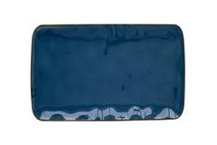 Тарелка прямоугольная (синий) Interiors без инд.упаковки Easy Life AL-57438