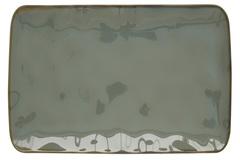 Тарелка прямоугольная большая (серый) Interiors без инд.упаковки Easy Life AL-57442
