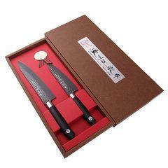 Набор из 2 кухонных ножей SATAKE Hammer Titanium HG8611