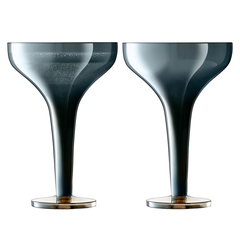 Набор из 2 бокалов для шампанского Signature Epoque 150 мл, сапфир LSA International G1660-05-140