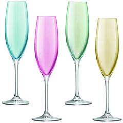 Бокал-флейта для шампанского Polka 4 шт. пастельный LSA G978-08-294*