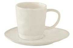 Чашка с блюдцем (белый) Interiors без инд.упаковки Easy Life AL-57425