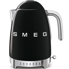 Чайник электрический с регулируемой температурой Smeg (Черный) KLF04BLEU