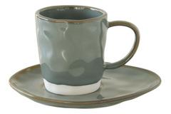 Чашка с блюдцем (серый) Interiors без инд.упаковки Easy Life AL-57423