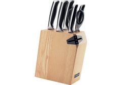 Набор из 5 кухонных ножей, ножниц и блока для ножей с ножеточкой, Nadoba, URSA 722616