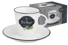 Чашка с блюдцем Кухня в стиле Ретро (чай) в подарочной упаковке Easy Life AL-54631