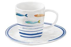 Чашка с блюдцем Морской берегв подарочной упаковке Easy Life AL-57363