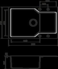 Кухонная мойка из искусственного гранита (Artgranit) OMOIKIRI Yonaka 78-LB-BL (4993341)