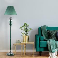 Торшер классический с абажуром Eurosvet Majorka 009/1T GR (зеленый)