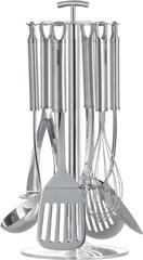 Набор кухонных инструментов, 7 пр., Nadoba, KAROLINA половник;       шумовка;  лопатка кулинарная перфорированная; ложка кулинарная;          венчик;  картофелемялка;   стенд. 721022
