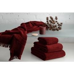 Полотенце для рук 90х50 декоративное с бахромой бордового цвета Tkano TK18-BT0026