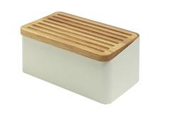Хлебница Legnoart, с доской д/нарезки, белая, серия CRISPY