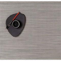 Салфетка подстановочная, жаккардовое плетение, винил, (36х48) Aluminum (100110-001) CHILEWICH Basketweave арт. 0025-BASK-ALUM