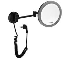 K-1004BLACK Зеркало с LED-подсветкой, 3-х кратным увеличением WasserKRAFT