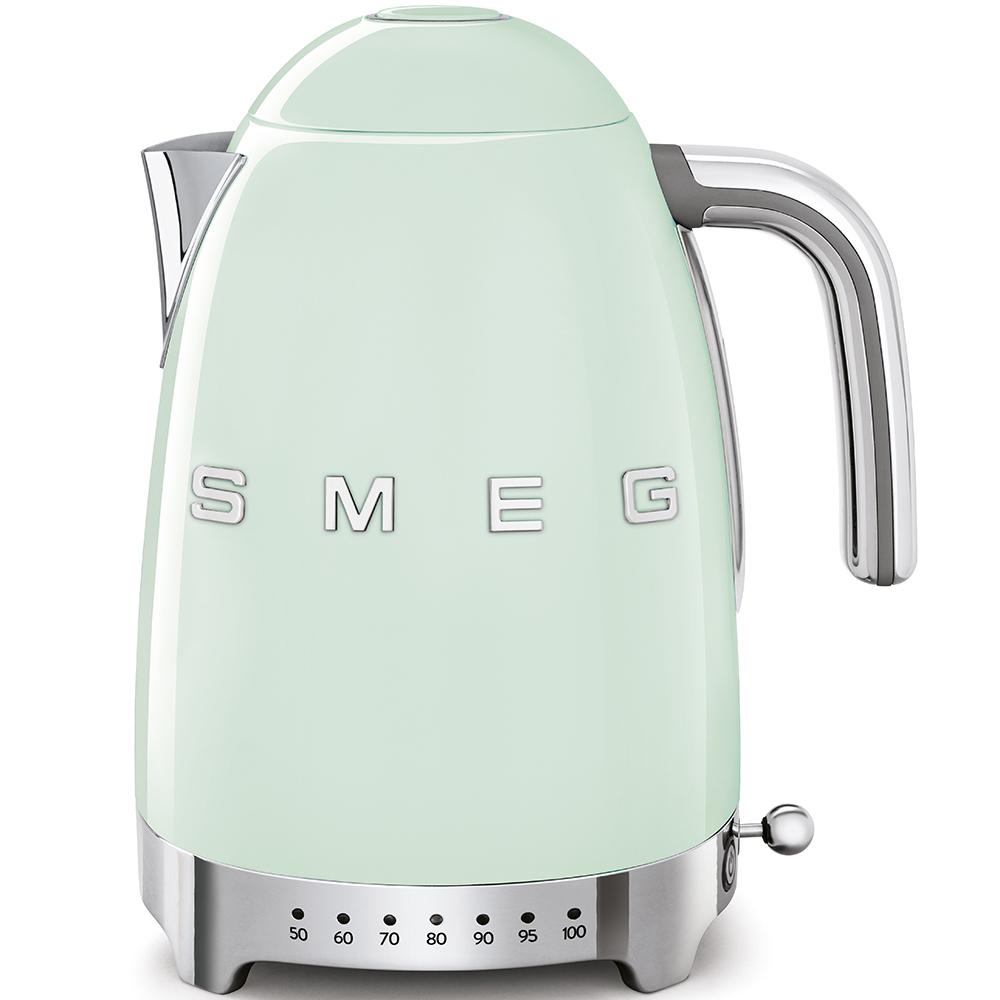 Чайник электрический с регулируемой температурой Smeg (Пастельный зеленый) KLF04PGEU фото