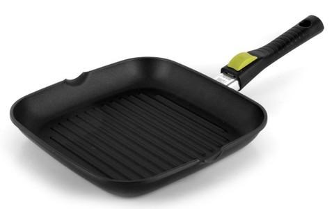 Литая сковорода-гриль со съемной ручкой Risoli Click 26x26см 00094S/26T00