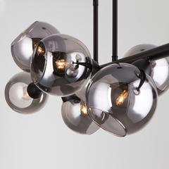 Подвесной светильник со стеклянными плафонами Eurosvet Roger 70113/8 дымчатый