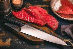 Нож кухонный Шеф 221мм Samura Golf SG-0085/Y