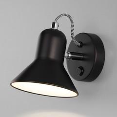 Настенный светильник с выключателем Eurosvet Canotier 20083/1 черный/хром