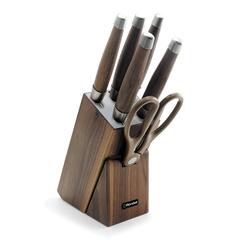 Набор из 5 ножей c ножницами на деревянной подставке Rondell Glaymore RD-984