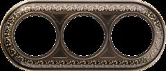 Рамка на 3 поста (бронза) WL70-frame-03 Werkel