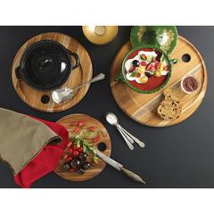 Набор из 3 круглых сервировочных досок Specialty 38 см Teak Haus TH908