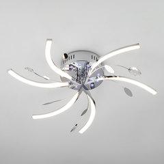 Светодиодный потолочный светильник с подсветкой и пультом ДУ Eurosvet Windmill 90125/6 хром