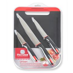 Набор из 3 ножей с разделочной доской Rondell Urban RD-1010