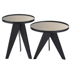 Набор кофейных столиков Berg Carrero, зеркальный золотистый, 2 шт. AK-TS019