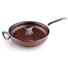 Глубокая сковорода 28 см c крышкой(стекло) Zanussi Siena ZCU51231CF