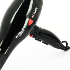 Фен Dewal Profile Compact, 2000 Вт, ионизация, 2 насадки, черный 03-119 Black