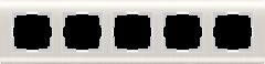 Рамка на 5 постов  (перламутровый) WL12-Frame-05 Werkel