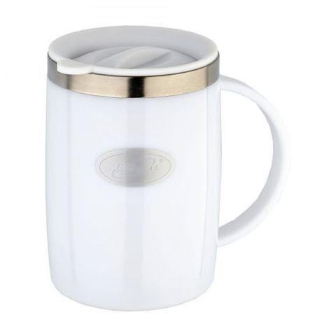 Кружка Biostal Flër (0,5 литра) с крышкой, белая