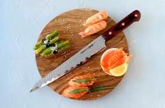 Нож кухонный стальной Янагиба 240мм Samura KAIJU SKJ-0045/Y