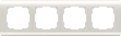 Рамка на 4 поста (перламутровый) WL12-Frame-04 Werkel
