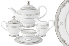 Чайный сервиз Корона (серебро) 23 предмета на 6 персон