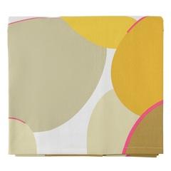 Скатерть из хлопка горчичного цвета с авторским принтом из коллекции Freak Fruit, 170х170 см Tkano TK20-TC0010