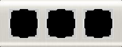 Рамка на 3 поста  (перламутровый) WL12-Frame-03 Werkel