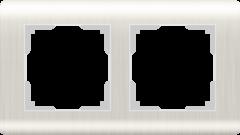Рамка на 2 поста (перламутровый) WL12-Frame-02 Werkel