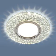 Встраиваемый точечный светильник с LED подсветкой 2224 MR16 CL прозрачный Elektrostandard