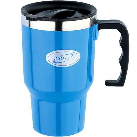 Кружка Biostal Авто (0,45 литра) синяя NМP-450Р-BL