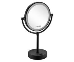K-1005BLACK Зеркало с LED-подсветкой двухстороннее, стандартное и с 3-х кратным увеличением WasserKRAFT