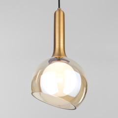 Подвесной светильник со стеклянным плафоном Eurosvet Fantasy 50188/1 янтарный