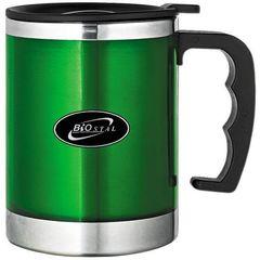 Кружка Biostal (0,35 литра) с крышкой, зеленая NE-350-G