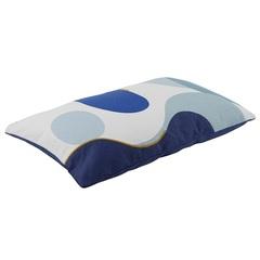 Подушка декоративная из хлопка синего цвета с авторским принтом из коллекции Freak Fruit, 30х50 см Tkano TK20-CU0010
