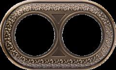 Рамка на 2 поста (бронза) WL70-frame-02 Werkel
