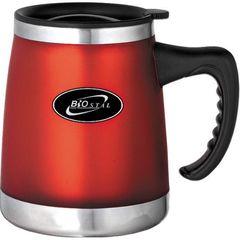 Кружка дутая Biostal (0,42 литра) с крышкой, красная NE-420F-R
