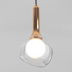 Подвесной светильник со стеклянным плафоном Eurosvet Fantasy 50188/1 золото