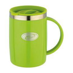Кружка Biostal Flër (0,5 литра) с крышкой, зеленая NE-500-G