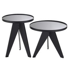 Набор кофейных столиков Berg Carrero, зеркальный серебристый, 2 шт. AK-TS017